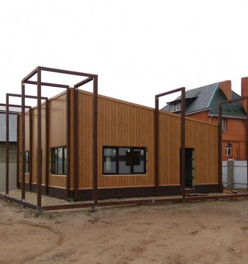 Жилой дом из сэндвич панелей проекты. Цены на строительство жилых помещений