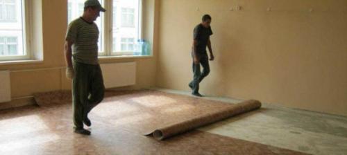 Как постелить линолеум на пол. Бетонный и деревянный пол