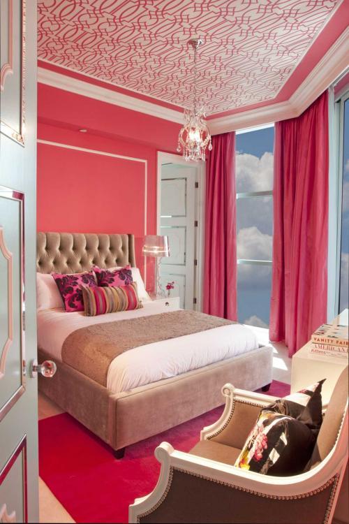 С каким цветом сочетается розовый в интерьере. Розовый в составе разных цветовых решений помещения