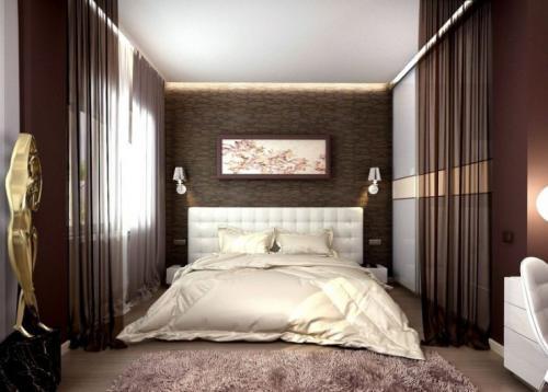 С какими цветами сочетается коричневый цвет в интерьере спальни. Причины выбора коричневого цвета для спальни?