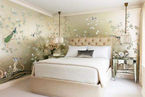 Какие обои выбрать в спальню: выбор цвета и материала
