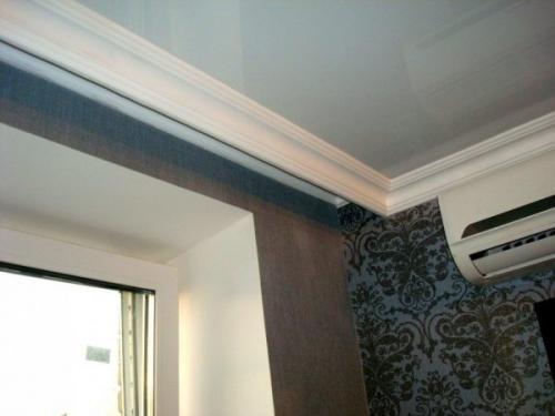 Как делают натяжной потолок с нишей для штор. Ниша для штор в натяжном потолке