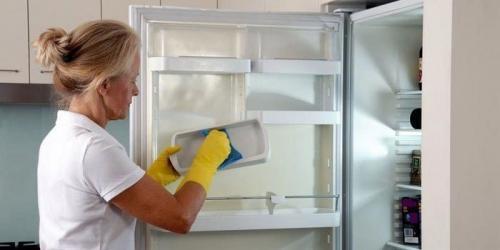 Как убрать запах из холодильника нашатырным спиртом. Чем убрать запах в холодильнике