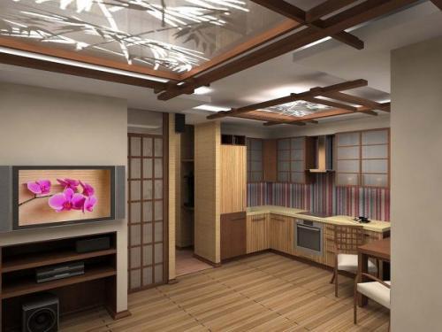 Потолок в японском стиле. Натяжные потолки в японском стиле
