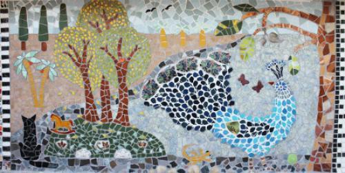 Рисунки для мозаики из плитки. Мастер-класс по укладке мозаики из старой битой плитки