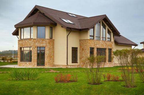 Современные фасады домов. Фасад дома — 110 фото лучшего дизайна. Варианты современных материалов для красивой отделки фасада