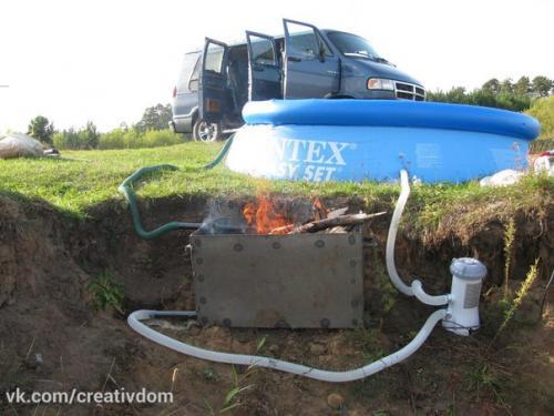Горячая вода на даче без электричества