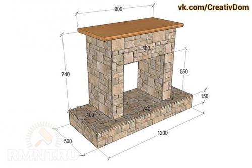 Камин из дерева своими руками пошаговая инструкция