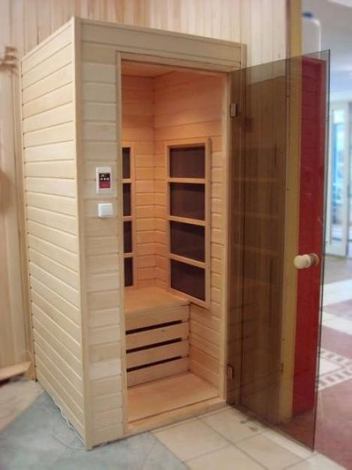 Сауна в ванной комнате вашего дома. домашняя сауна позволяет.