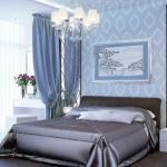 Роскошный дизайн интерьера спальни.