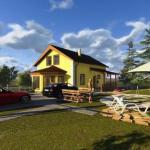 """Проект двухэтажного жилого дома """"Бюджетный-2"""" - Загородный дом с""""растущими"""" возможностями."""