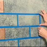 Имитация каменной кладки своими руками.