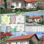 Проект одноэтажного дома (84, 5 м 2).