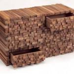 Мебель, которая притворяется досками и брусками?