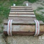 Рулонная деревянная дорожка.