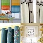 Занавески для кухни: уникальный дизайн своими руками.