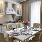 Дизайн интерьера квартиры в классическом стиле, общей площадью 42 кв.