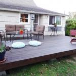 Как создать деревянную палубу возле дома.