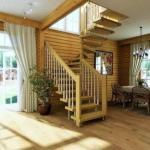 Особенности строительства лестниц в частных домах.