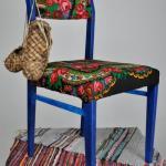 Декорирование стула в русском стиле.