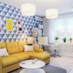 Дизайн интерьера 1-комнатной квартиры 37 кв.