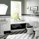 """9 способов укладки плитки """"Кабанчик"""" в ванной комнате."""