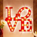 Светящаяся надпись Love своими руками.
