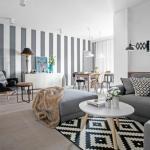 Скандинавские гостиные.  Комнаты оформлены в лучших традициях скандинавского дизайна - строго, минималистично и с акцентом на стильные детали.