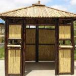 Необычные садовые беседки: 10 беседок в восточном стиле из бамбука!