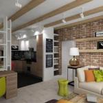 Дизайн - проект двухкомнатной квартиры площадью 62, 8 кв.