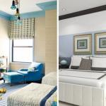 Разнообразить привычный интерьер комнаты можно очень простым и недорогим способом - покрасьте потолочные карнизы в контрастный со стенами оттенок.