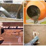 Приготовление и применение известково-цементного раствора.