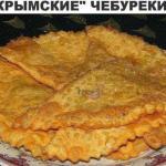 """""""Крымские"""" чебуреки из слоеного теста - правильный рецепт."""