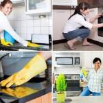 Эко - спрей для уборки на кухне.