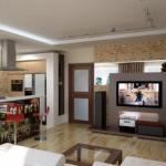 Совмещенная с гостиной кухня: идеи дизайна.