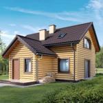 Проект дома с мансардной, общая площадь - 102 кв.