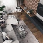 Дизайн - проект кухни и гостиной от Алексея Волкова.