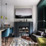 Интерьер квартиры - студии 38 м в Москве.
