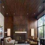 Виды потолков.  Сейчас все популярнее становятся подшивные потолки из дерева, получившие такое название из-за способа укладки.