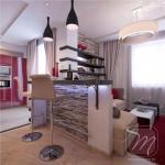 Дизайн однокомнатной квартиры в Минске.