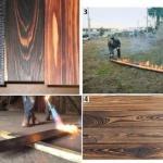 Обожжённое дерево для отделки: преимущества и изготовление своими руками.