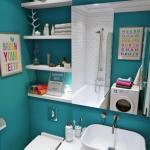 Эта небольшая ванная комната расположилась на площади всего в 4, 5 кв.