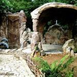 На первом фото - это не камень, а искусно обработанный бетон.
