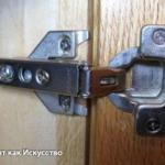Регулировка дверей шкафа, мебельных петель (завесов) своими руками.