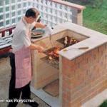 Пошаговая инструкция кладки барбекю из кирпича.