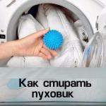 Как стирать пуховик в стиральной машине.